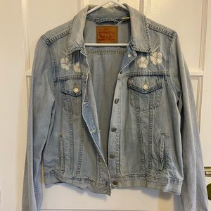 Levi Embroidered Denim Jacket